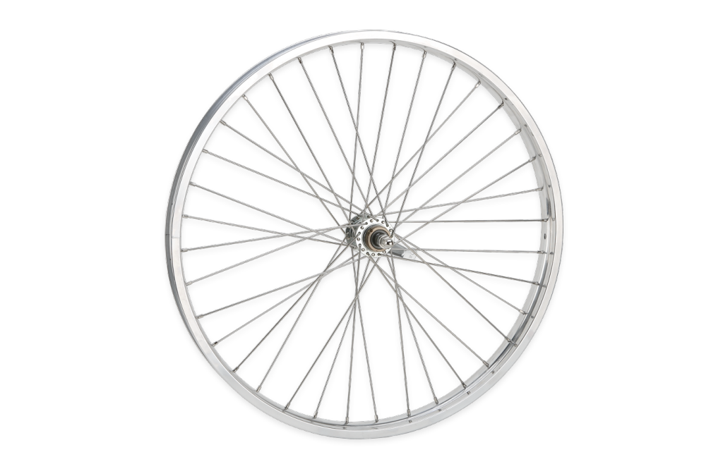 Hub and Spoke design illustrated as a bike wheel