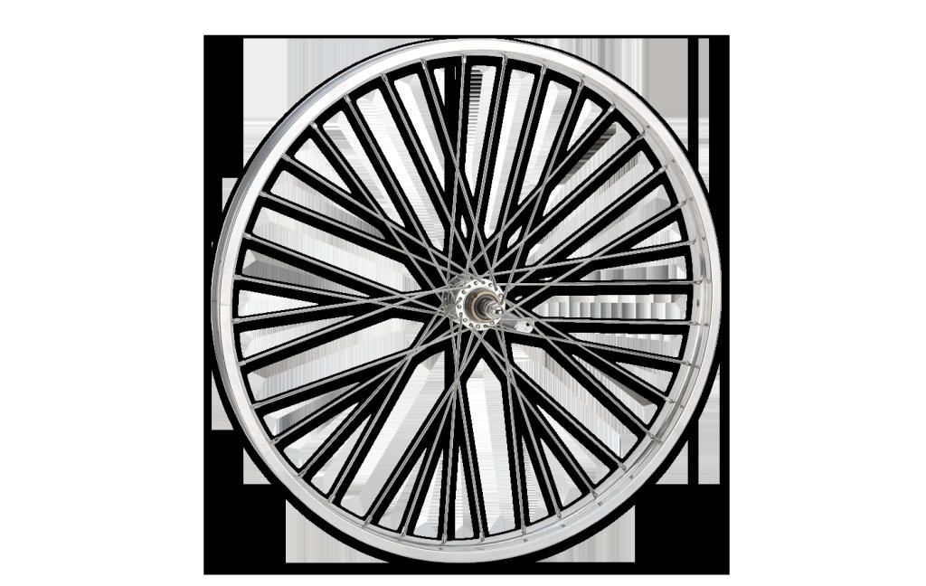 Hub and Spoke design illustrated as a bike wheel