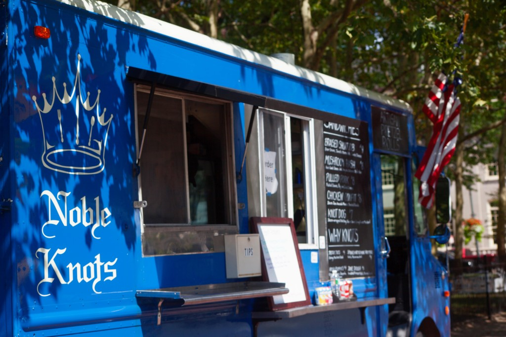 Noble Knots Food Truck at Kennedy Plaza